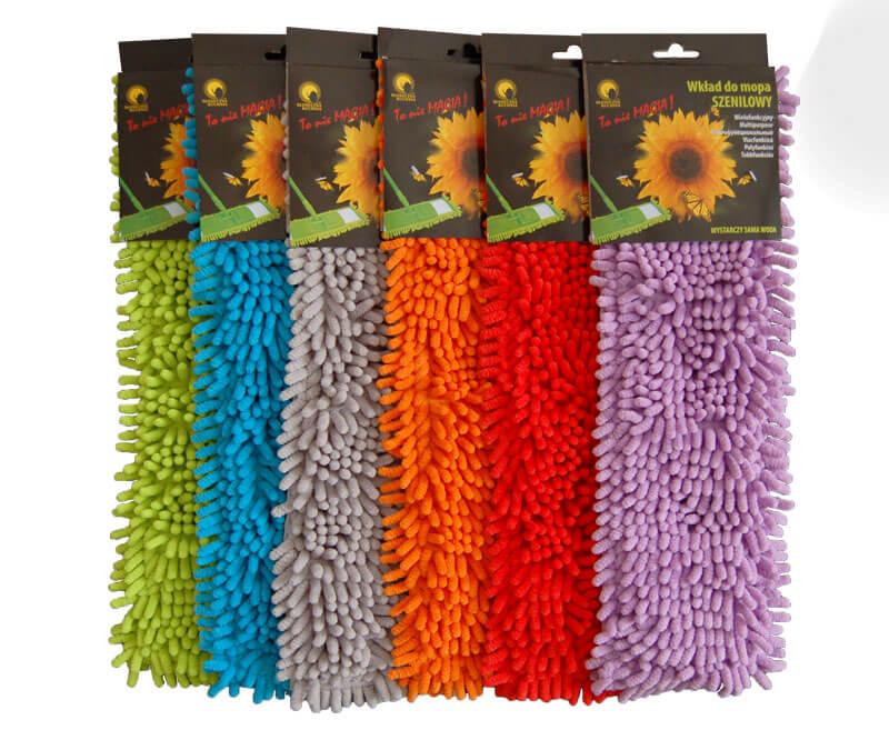 Wkład do mopa z mikrowłókna 6 kolorów